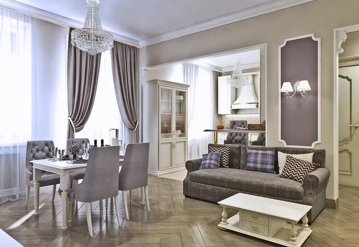 Гостиная: Гостиная в . Автор –  Pure Design, Классический