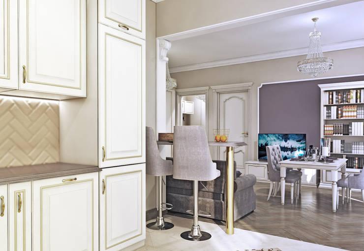 Вид из кухни: Кухни в . Автор –  Pure Design, Классический