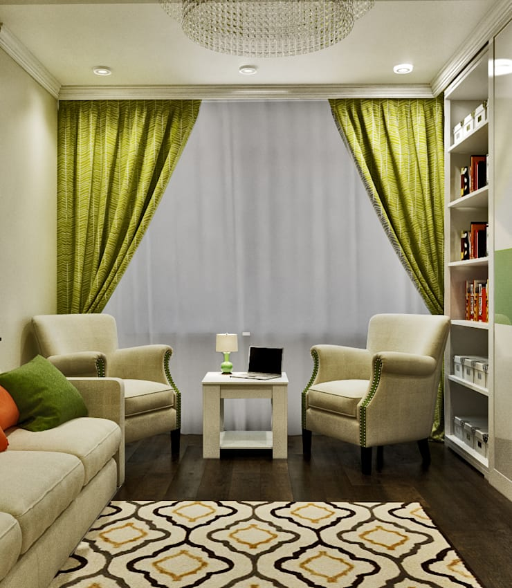 Зона для чтения: Гостиная в . Автор –  Pure Design