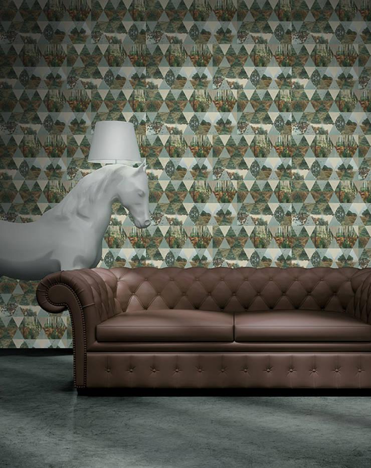 Pinhal de Céu: Parede e piso  por OH Wallpaper