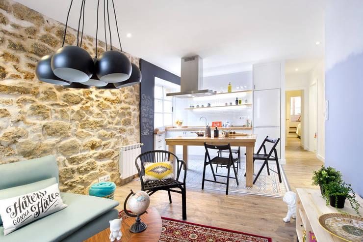 A Coruña for rent!: Salones de estilo  de Egue y Seta