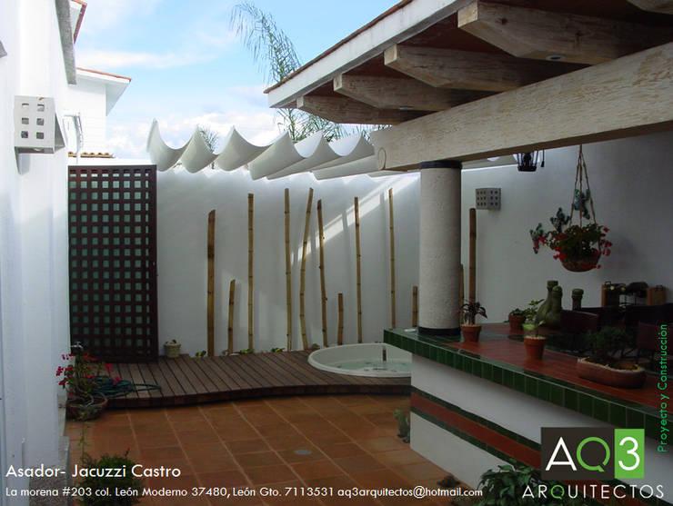 Hiên, sân thượng by AQ3 Arquitectos