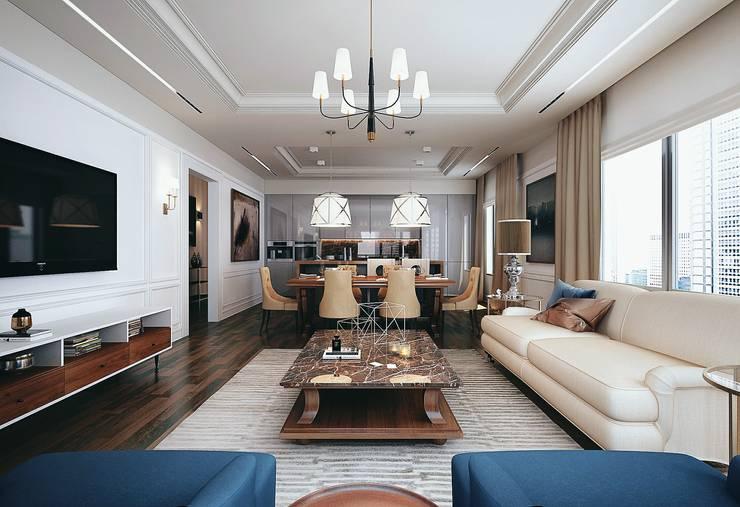 Living room. Part I: Гостиная в . Автор – KAPRANDESIGN
