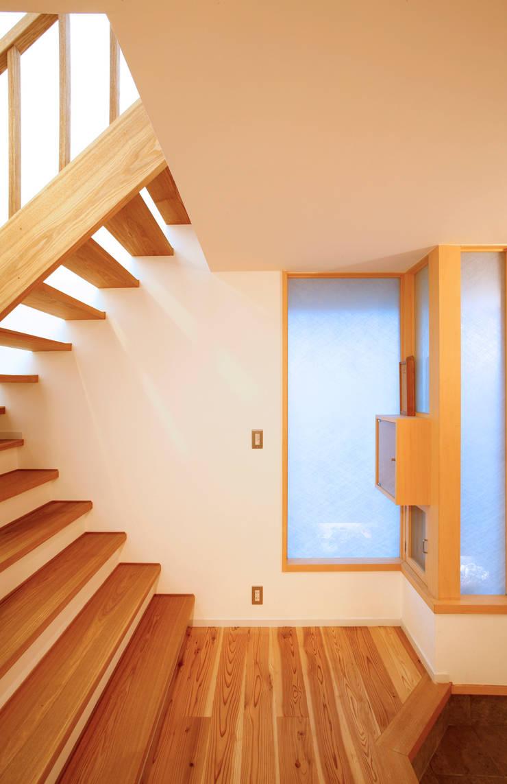 静岡の家 case004: 岩川卓也アトリエが手掛けた廊下 & 玄関です。
