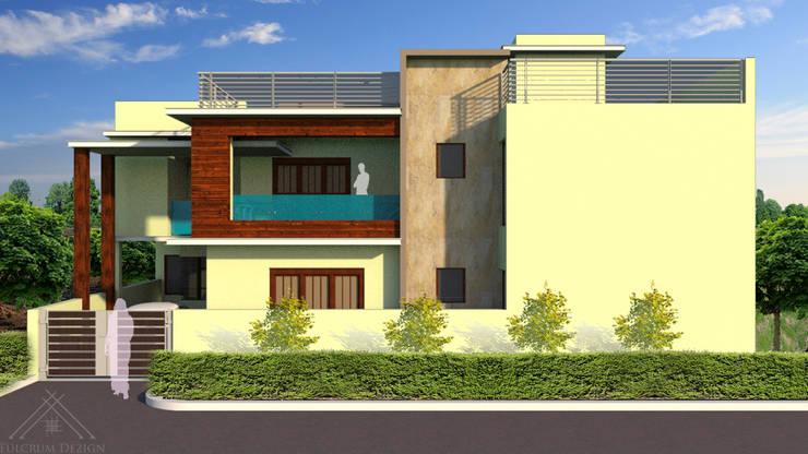 Facade Development of Residence:  Houses by Fulcrum Dezign,Modern