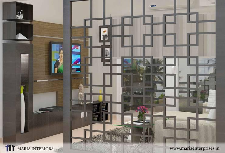 partition living:  Living room by Maria Enterprises