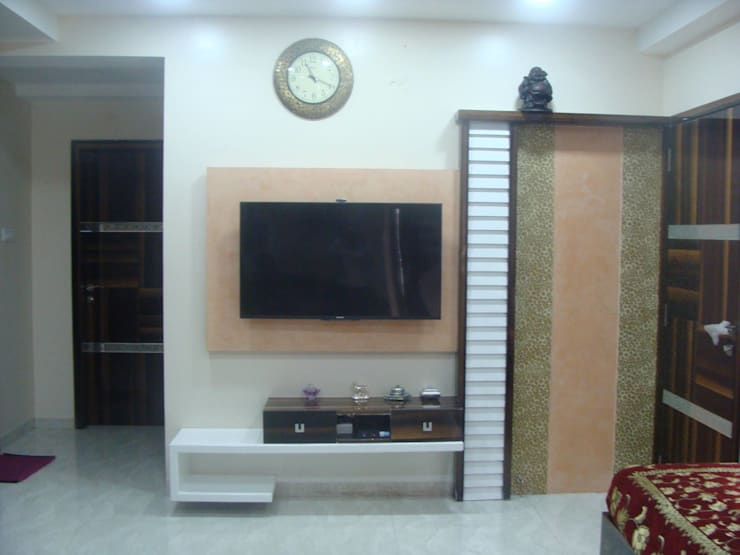 Independent Bunglow - Secunderabad , Hyderabad.: modern Living room by Nabh Design & Associates