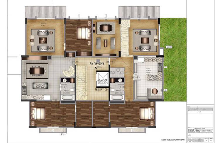 Aykuthall Architectural Interiors – Soğuksu Park Sitesi:  tarz Evler