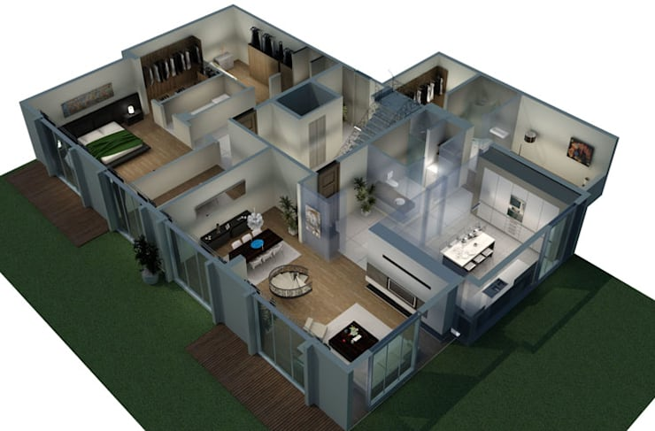 Aykuthall Architectural Interiors – Soğuksu Park Sitesi:  tarz Duvarlar