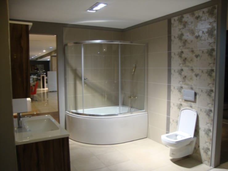 Gri Yapı Dekorasyon – İstanbul Banyo Yenileme Firması: modern tarz , Modern