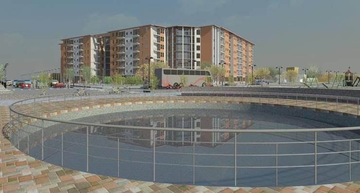 Vivienda en densidad:  de estilo  por Ingeniería y diseño Ingedis spa