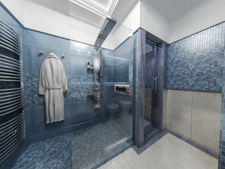 Projekty,  Łazienka zaprojektowane przez studiosagitair