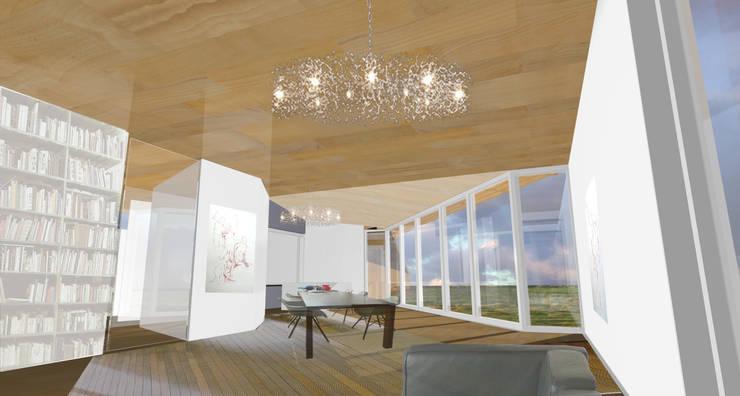 concepthouse houten villa :  Woonkamer door hans moor architect