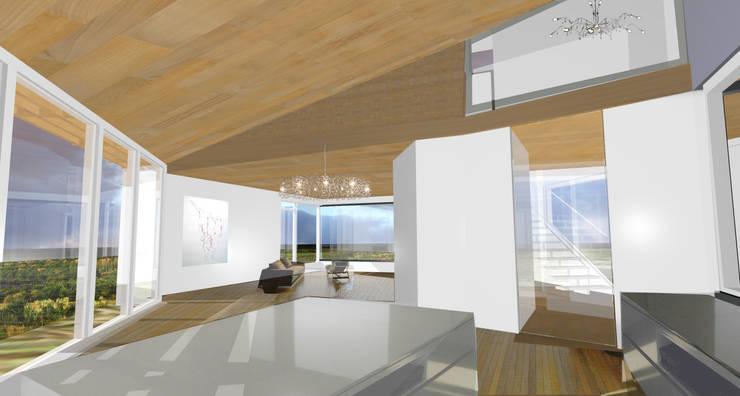 concepthouse houten villa :  Eetkamer door hans moor architect