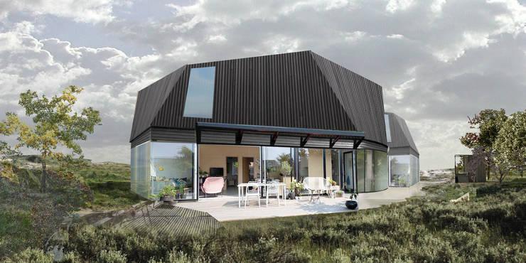 duurzame houten huis:  Huizen door hans moor architect, Modern Graniet