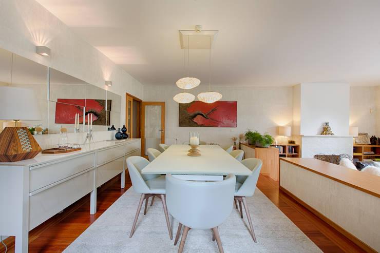 غرفة السفرة تنفيذ SHI Studio, Sheila Moura Azevedo Interior Design