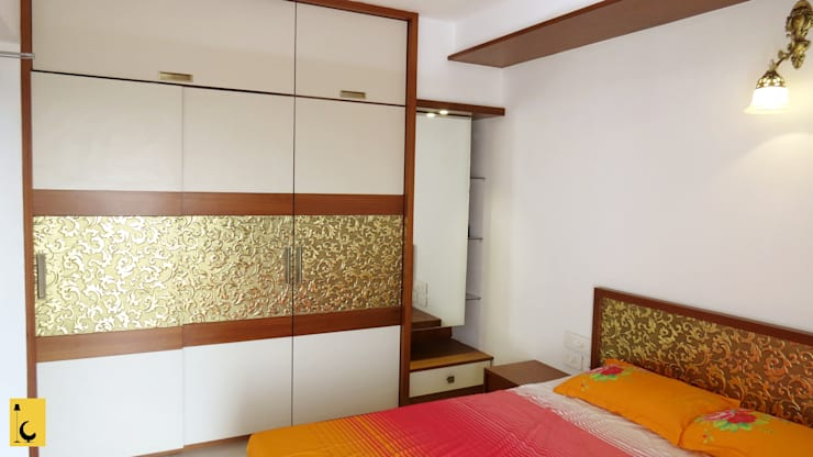 SPACE HI-STREAK, KULSHEKAR, MANGALORE: modern Bedroom by Indoor Concepts