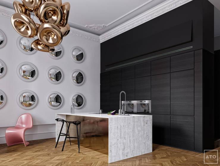 Апартаменты для сестры: Кухни в . Автор – ATO Studio