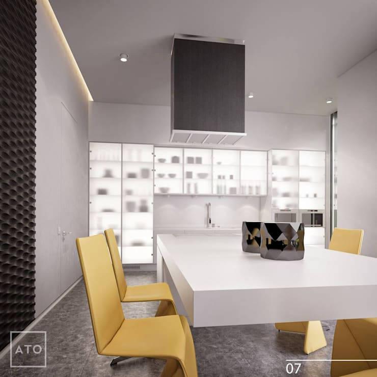 Дом на новой риге: Столовые комнаты в . Автор – ATO Studio
