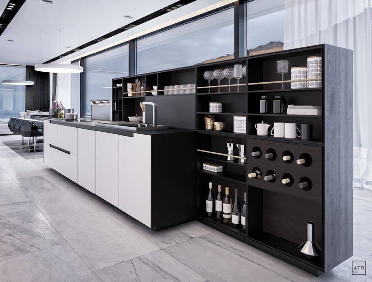 Белый дом: Кухни в . Автор – ATO Studio