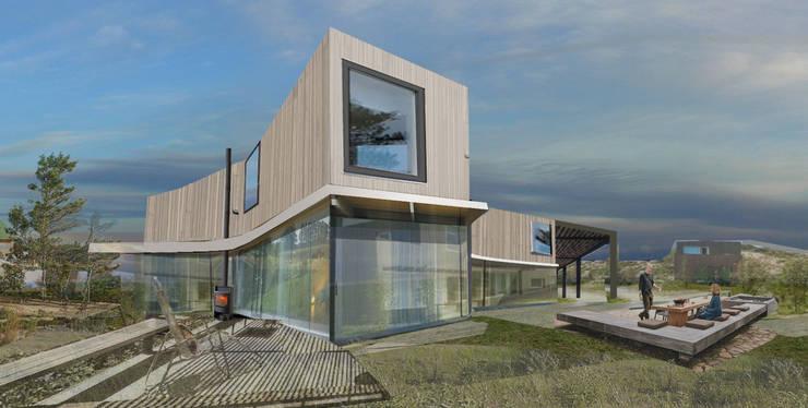 duurzaam houten huis:  Huizen door hans moor architect
