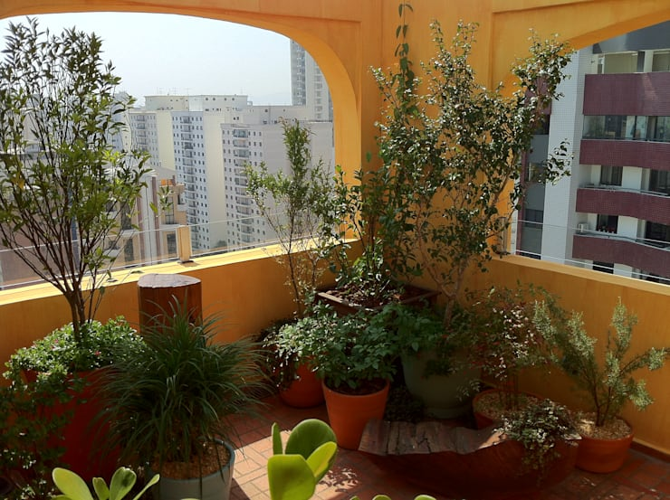 Jardines de estilo  por Renata Villar Paisagismo e Arranjos Florais