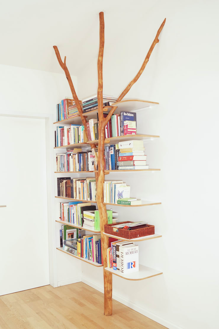Bücherregal:  Wohnzimmer von Badabaum