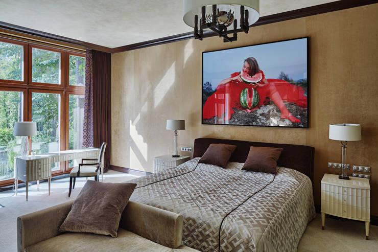 Особняк в Барвихе: Спальни в . Автор – Архитектурное бюро Бахарев и Партнеры