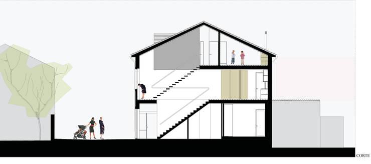 corte longitudinal:   por Ricardo Caetano de Freitas | arquitecto