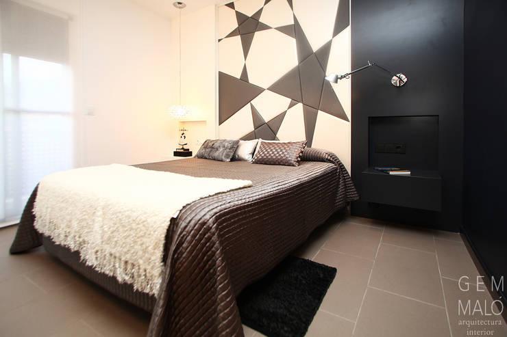 Dormitorio matrimonio para una chica llamada Estrella: Dormitorios de estilo  de Gemmalo arquitectura interior