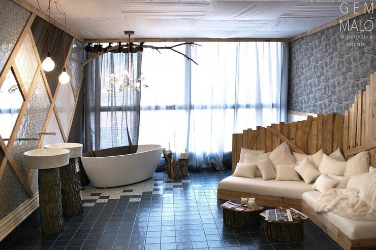 Espacio efímero: Espacios comerciales de estilo  de Gemmalo arquitectura interior