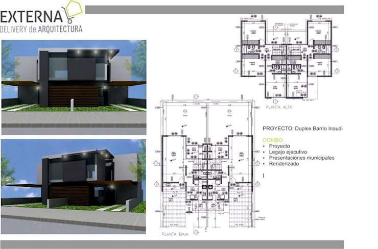 Duplex La Paya: Casas de estilo  por Externa Arquitectura