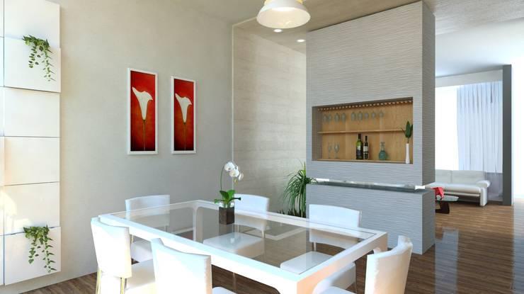 Sala y Comedor: Comedores de estilo  por JRK Diseño - Studio Arquitectura