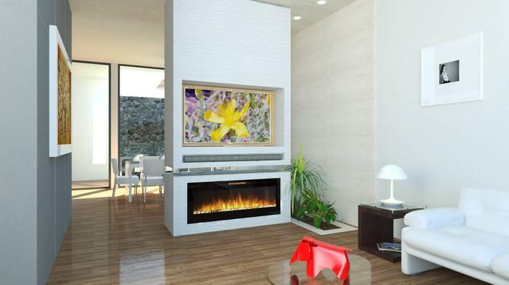 Salas / recibidores de estilo  por JRK Diseño - Studio Arquitectura
