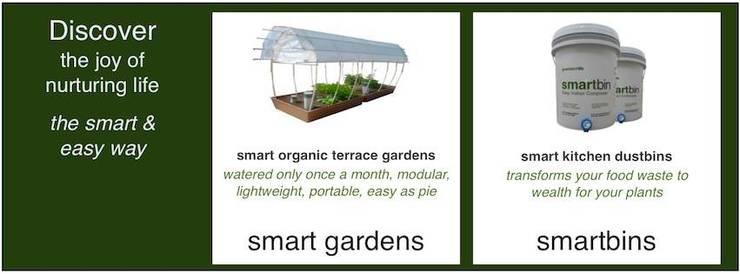 Smartbin- Essential nutrients for your organic garden:  Garden  by GreenTech Life
