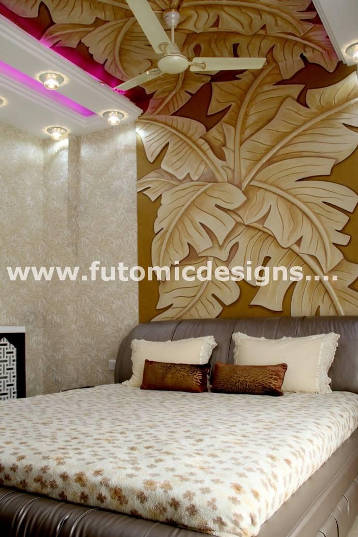 Premium Home Interiors:  Bedroom by Futomic Design Services Pvt. Ltd.,Modern MDF
