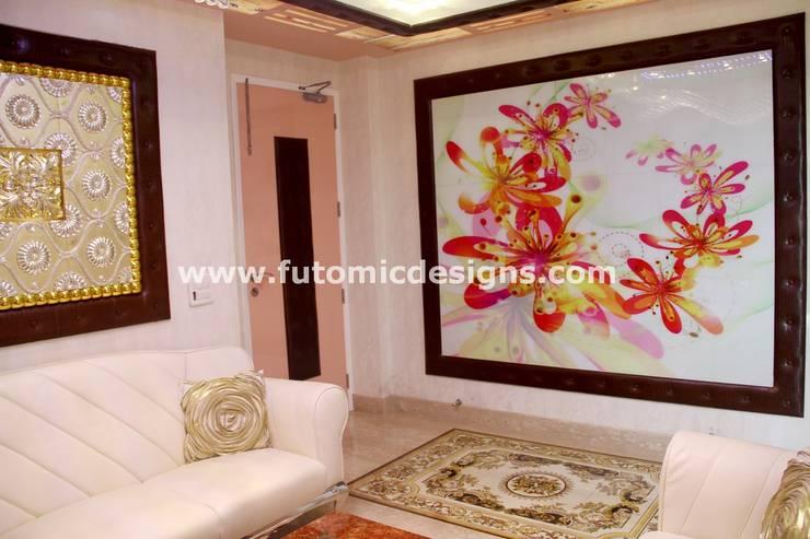 Premium Home Interiors: modern  by Futomic Design Services Pvt. Ltd.,Modern Glass