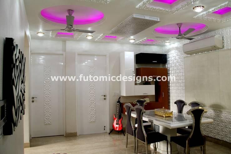 Premium Home Interiors: modern  by Futomic Design Services Pvt. Ltd.,Modern Flax/Linen Pink