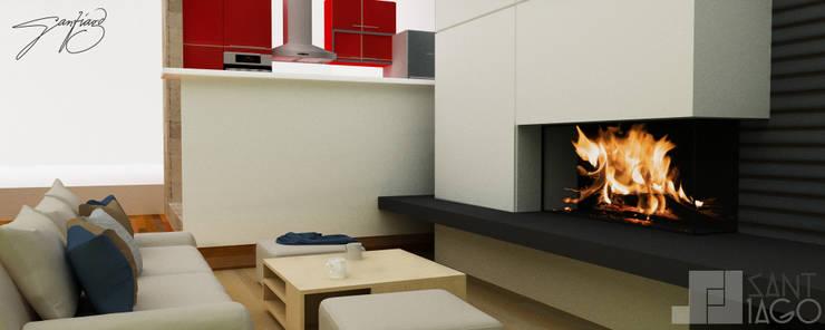 E-Aguilar: Salas multimedia de estilo  por SANT1AGO arquitectura y diseño
