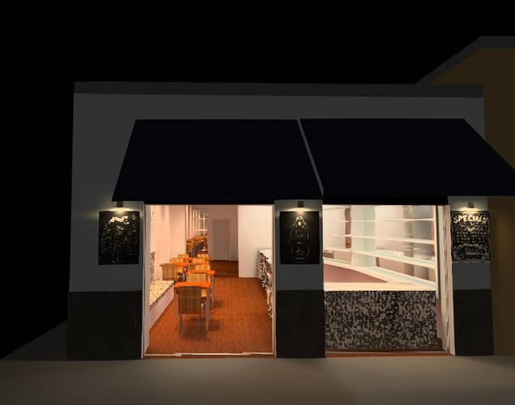 Fachada: Casas de estilo  por Profesionales Especialistas