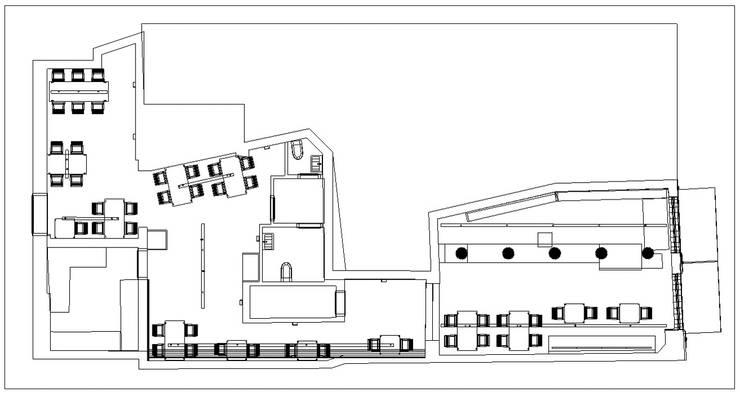 Planos: Casas de estilo  por Profesionales Especialistas