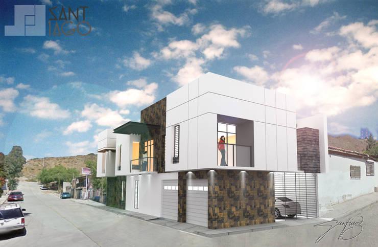 Fachada Principal: Casas de estilo  por SANT1AGO arquitectura y diseño