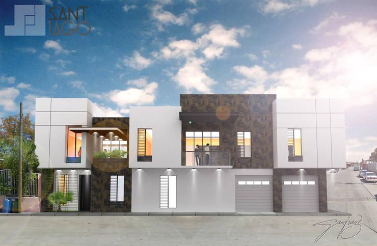 Fachada Oeste: Casas de estilo  por SANT1AGO arquitectura y diseño