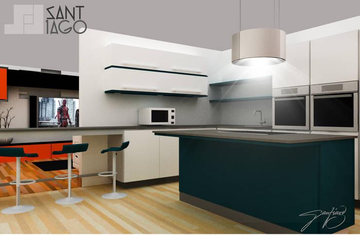 Proyecto Jc: Cocinas de estilo  por SANT1AGO arquitectura y diseño
