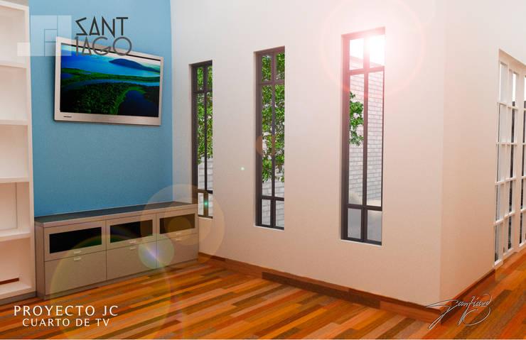 Proyecto Jc: Salas multimedia de estilo  por SANT1AGO arquitectura y diseño