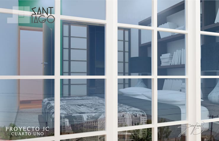 Proyecto Jc: Recámaras de estilo  por SANT1AGO arquitectura y diseño