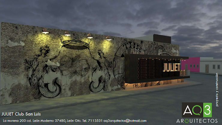 Bars & clubs by AQ3 Arquitectos