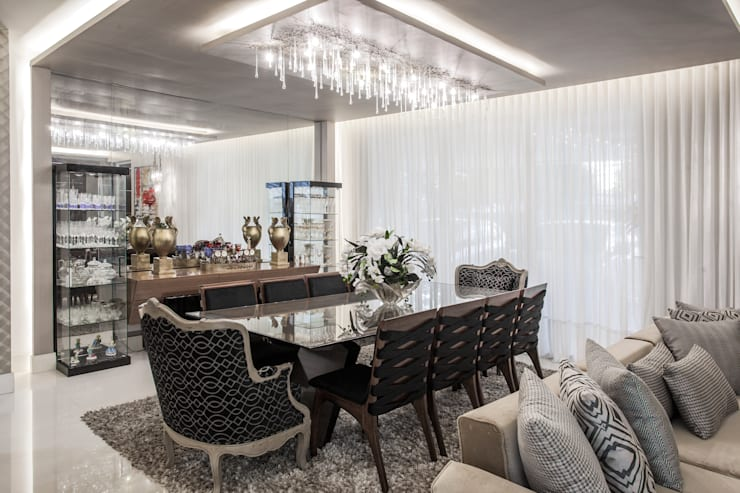 classic Dining room by Heloisa Titan Arquitetura