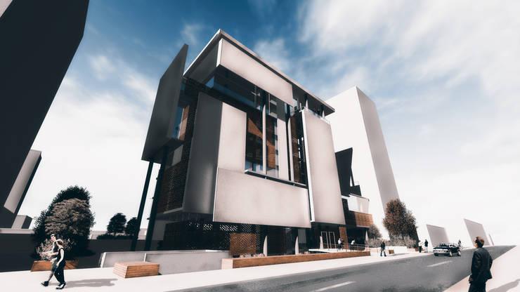 Edificio Oficinas / Proyecto Arquitectura Taller V / Estudiante Nadim Becerra:  de estilo  por NB Render Arquitectura