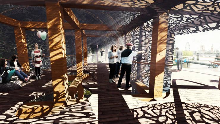 Treehouse Competition 2015 - Integrantes: Carlos Ugarte - Nadim Becerra - Mario Castillo - José Burgos:  de estilo  por NB Render Arquitectura
